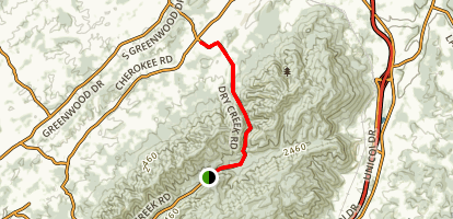 Horsecove Gap Trail Map