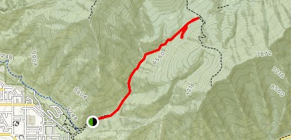Spring Canyon Trail Map