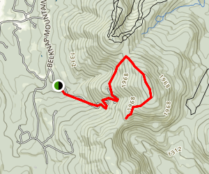 Belknap Mountain Trail Map