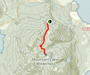 Varney Creek Trail to Lake Como Map