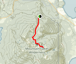 Varney Creek Trail to Lake Harriette Map