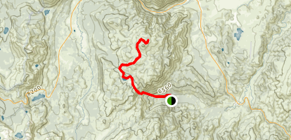 Grover Hot Springs to Hawkins Peak Trail Map