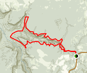 North Rim and North Plateau Trails Map