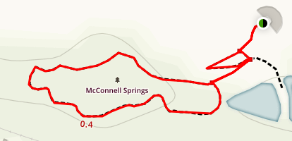 McConnell Springs Trail Map