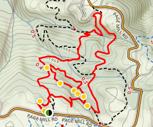 Los Trancos Loop Trail Map