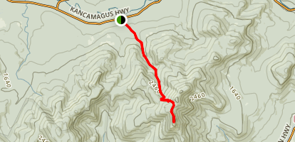 Champney Brook Trail to Mount Chocorua Map