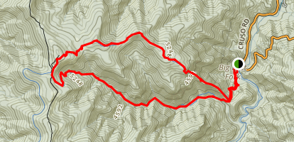 Shining Creek-Old Butt Knob Loop Trail Map