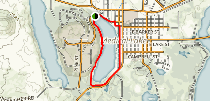 Medical Lake Trail Map