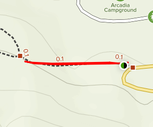 Arcadia NF Campground Trail Map