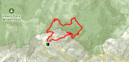 Appalachian Trail and Wilson Creek Trail Loop Map