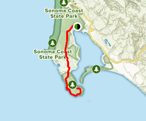 Bodega Dunes Trail Map