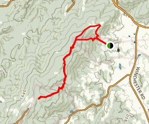Appalachian Trail in Sky Meadows State Park Map
