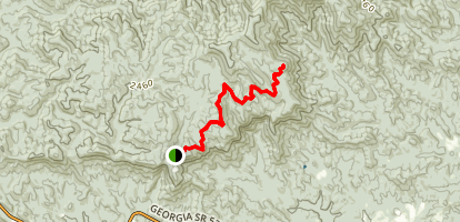 Appalachian Trail to Amicalola Falls State Park Map