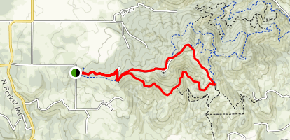 Antoine Peak via Emerald Necklace Map