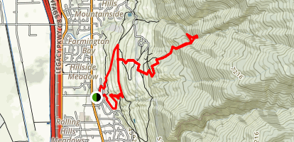 Little Valley Trail Map