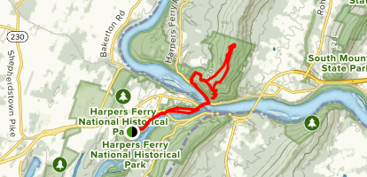 Visitor Center to Maryland Heights Loop Map