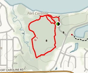Hammock Trail at Fort Caroline Map