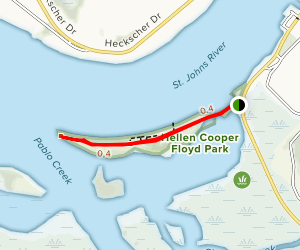 Helen Cooper Floyd Trail [CLOSED] Map