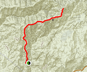 Los Pinos Peak (South approach) Map