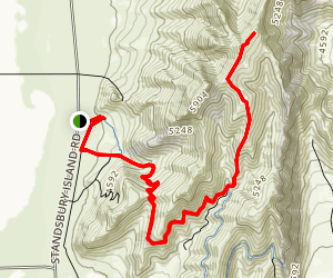 Stansbury Island Trail Map