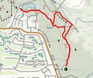 Timuquan Ravine Trail to Spainish Pond Map