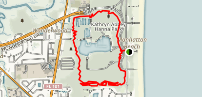 Hanna Park South Trail Map