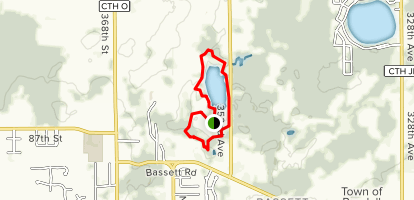 KD Lake Trail Map