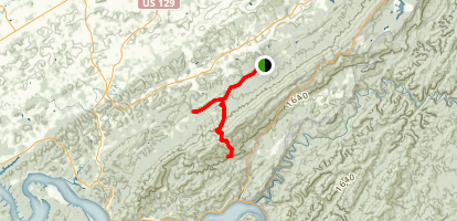 Little Mountain Trail to Hardwood Gap and Cockspur Knob  Map