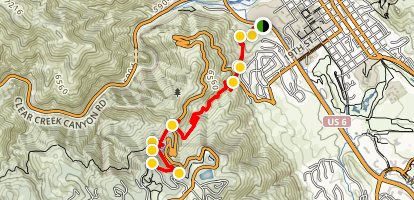 Chimney Gulch Trail Map