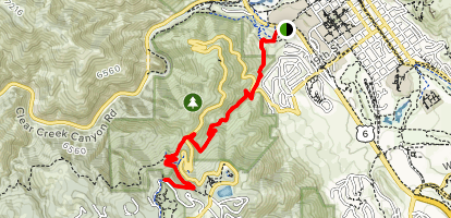 Chimney Gulch Trail from Highway 6 Map