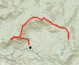 Lost Crow and Weston Mountain Trail Map