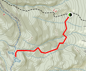 Harvard Lakes Trail Map