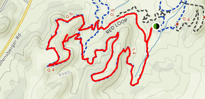 Red and Green Loop Trail Map