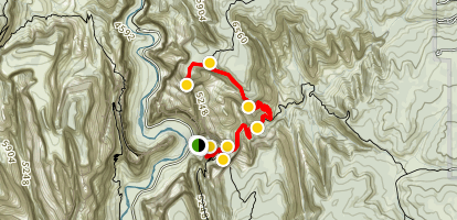 East Rim Trail to Observation Point Map
