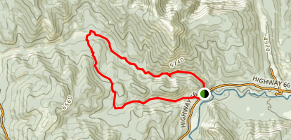 Powderface Creek and Prairie Creek Trail Loop Map