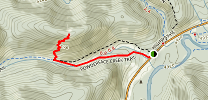White Buddha via Powderface Trail Map