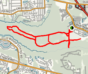 Yellow-White Trail Loop Map