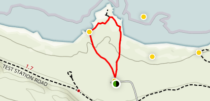 South Tufa Loop Trail Map