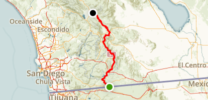 PCT: CA Section A - Campo to Warner Springs Map