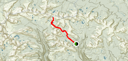 Divide Lake Trail Map