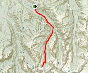 Priord and Norice Lakes Trail Map