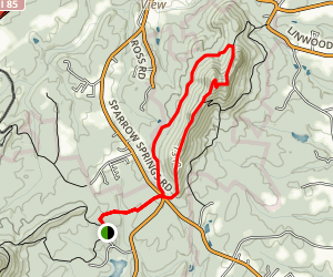 Crowder's Trail to Rocktop Trail Loop Map