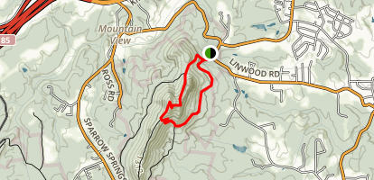 Backside Trail at Crowders Mountain Map
