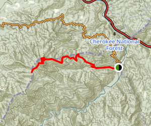 Chestnut Branch Trail to Mount Cammerer Map