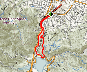 Los Gatos Creek Trail Map