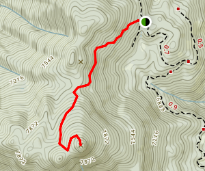 Sunday Peak Trail Map