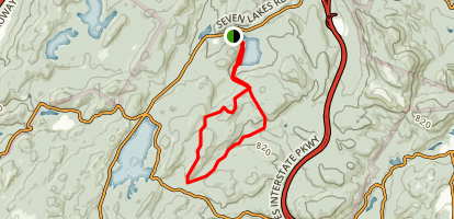 LetterRock Mountain Loop Trail Map