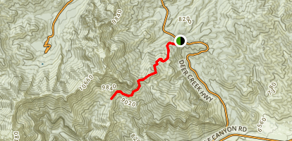 Charleston Peak North Trail Map