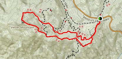 Charlton Flat to Vetter Mountain Trail Map