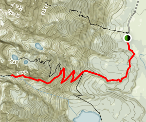 Garnet Canyon Trail to Cleft Falls Map